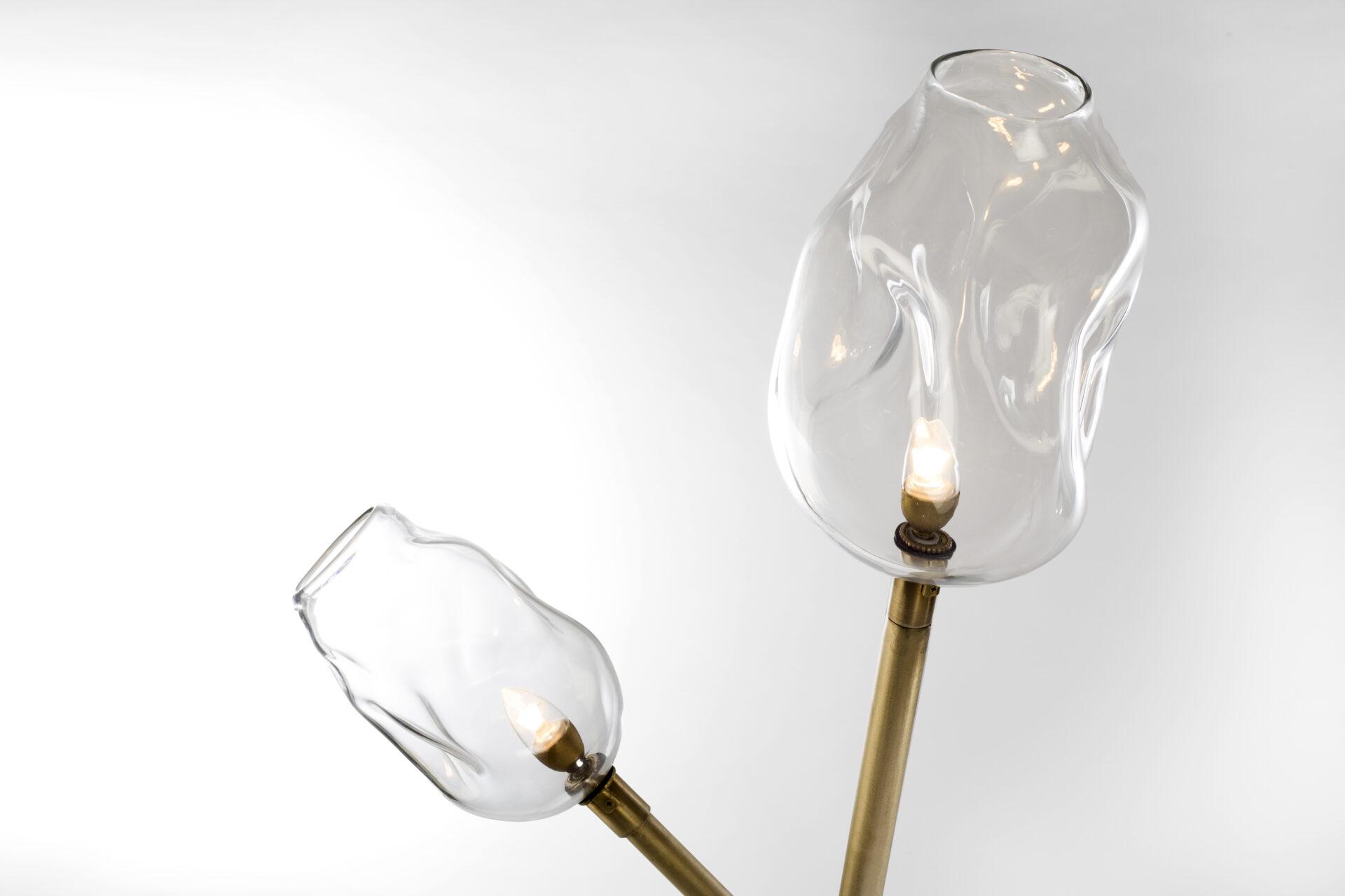 newest d6f68 0e501 Au Karanto Blown Glass Floor Lamp